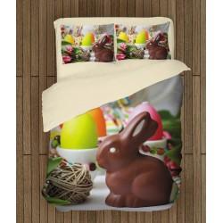 Set de pat Paști Iepurașul de ciocolată - Chocolate Bunny