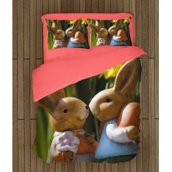 Set de pat Iepurași de Paști - Easter Bunnies